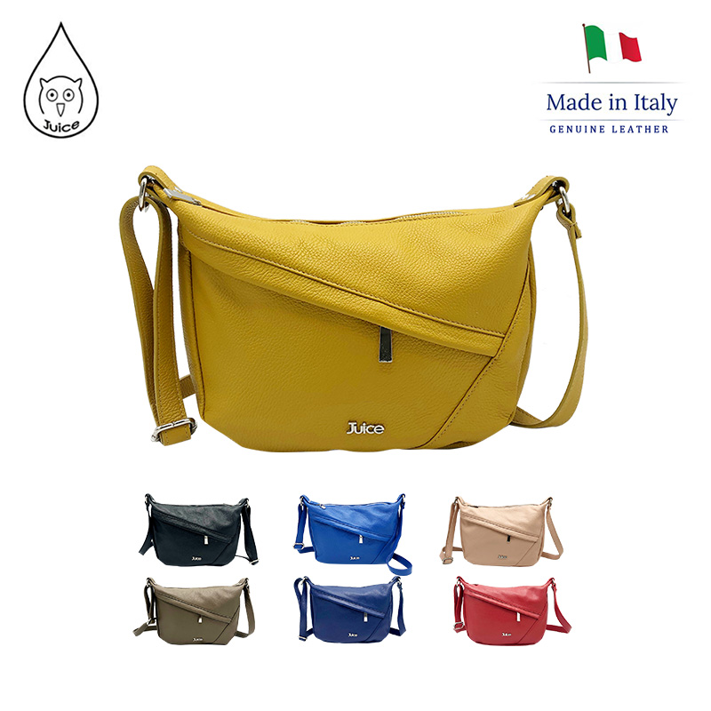 JUICE, Made In Italy, Genuine Leather, Women Bag,cross Body,dollaro Leather Soft Leather 112038