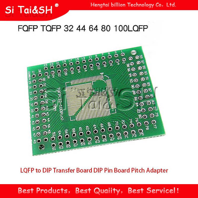 Adaptador de placa de transferência 5 peças, fqdp tqlc 32 44 64 80 100 lqdp para dip, placa de dip