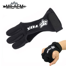 Archery Finger Tab Guard 3 Glove Protect Cow Leather Durable Outdoor Sports Shooting Accessories