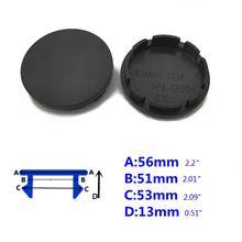 4pcs 56mm Car Wheel Center Hub Caps Universal ABS Vehicle Tyre Tire Rim Cover