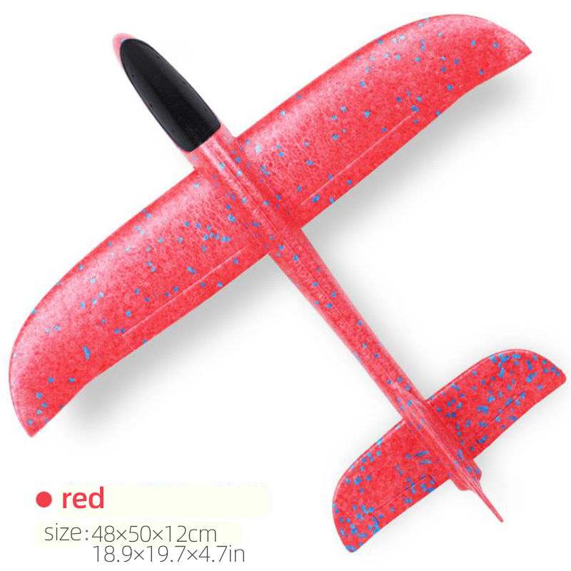 50CM Big Foam Plane Glider Hand Throw Airplane Light Inertial EPP Bubble Planes Outdoor Launch Kids Toys for Children Boys Gift