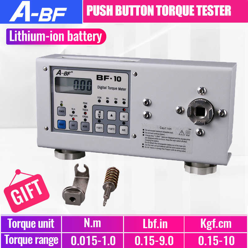 A-BF BF-10 cyfrowy miernik momentu obrotowego wysokiej precyzji elektryczny przycisk wiertła Tester momentu obrotowego Tester silnika do wkrętaka elektrycznego