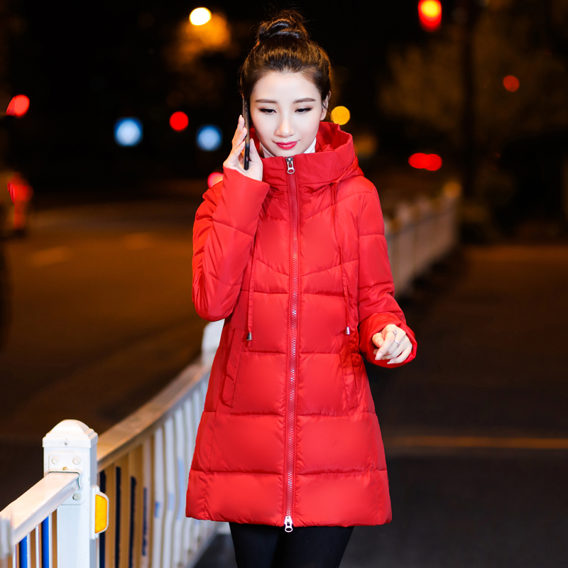 2019 Winter New Arrival Black Women   Basic     Jacket   Plus Size Female Stand-Up Collar   Jacket   Slim Large Size Cotton Warm Coat