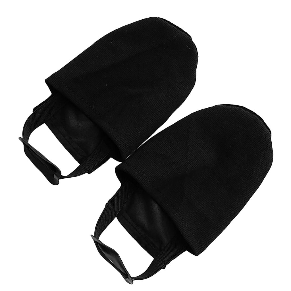 Perfeclan Premium Black Elastic Fabric Sports Bowling Shoe Slider Cover Replacement Accessories for Bowling Sports