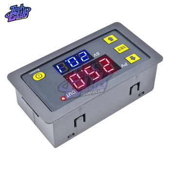 цена на AC110V 220 DC 12V 24V Digital Time Delay Relay Adjustable LED Display Cycle Timer Control Switch Timing Relay Time Delay Switch