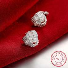 Женские серьги гвоздики с мягкой обмоткой элегантные из 100%