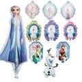 1 шт., воздушный шар с принцессой Эльзой и Анной из мультфильма «Холодное сердце», вечерние украшения на день рождения для детей, двусторонни...