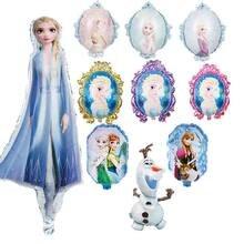 Balões de alumínio frozen 1 peça, balão princesa do chuveiro do bebê, decoração de festa de aniversário infantil, balão de folha de alumínio