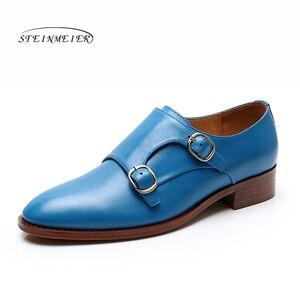Image 3 - Yinzo mieszkania damskie Oxford buty kobieta oryginalne skórzane buty sportowe damskie letnie platformy Brogues Vintage obuwie dla kobiet