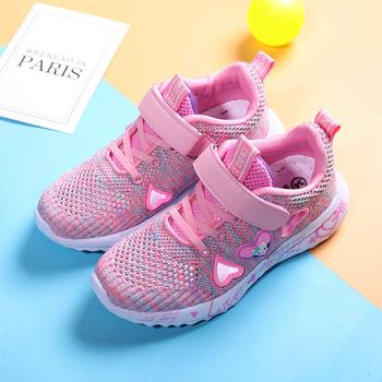 JG Kids Girls obuwie sportowe modne trampki dziecięce tenisowe buty z siatką na co dzień dziecko księżniczka buty dziewczęce śliczne buty do biegania tanie i dobre opinie JONEY GREEN RUBBER Pasuje prawda na wymiar weź swój normalny rozmiar 10 t 11 t 12 t 13 t 14 t 14 T Mesh (air mesh)