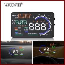 Автомобильный проекционный дисплей GEYIREN 5,5 дюйма A8 HUD, бортовой сканер OBD II EUOBD светодиодный светодиодная система сигнализации на лобовое стекло, Универсальный Автомобильный сканер