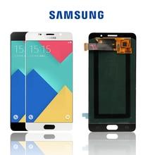 Orijinal 5.2 süper AMOLED SAMSUNG Galaxy A5 2016 A510 A510F A510M A510FD LCD ekran dokunmatik ekran Digitizer ile montaj