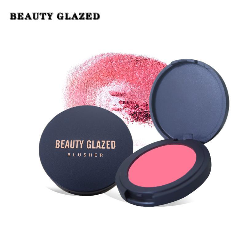 10 צבעים מט סומק טבעי להאיר את עור Pearlescent אבקה טבעי וארוך טווח שמן בקרת גליטר רוז 'TSLM