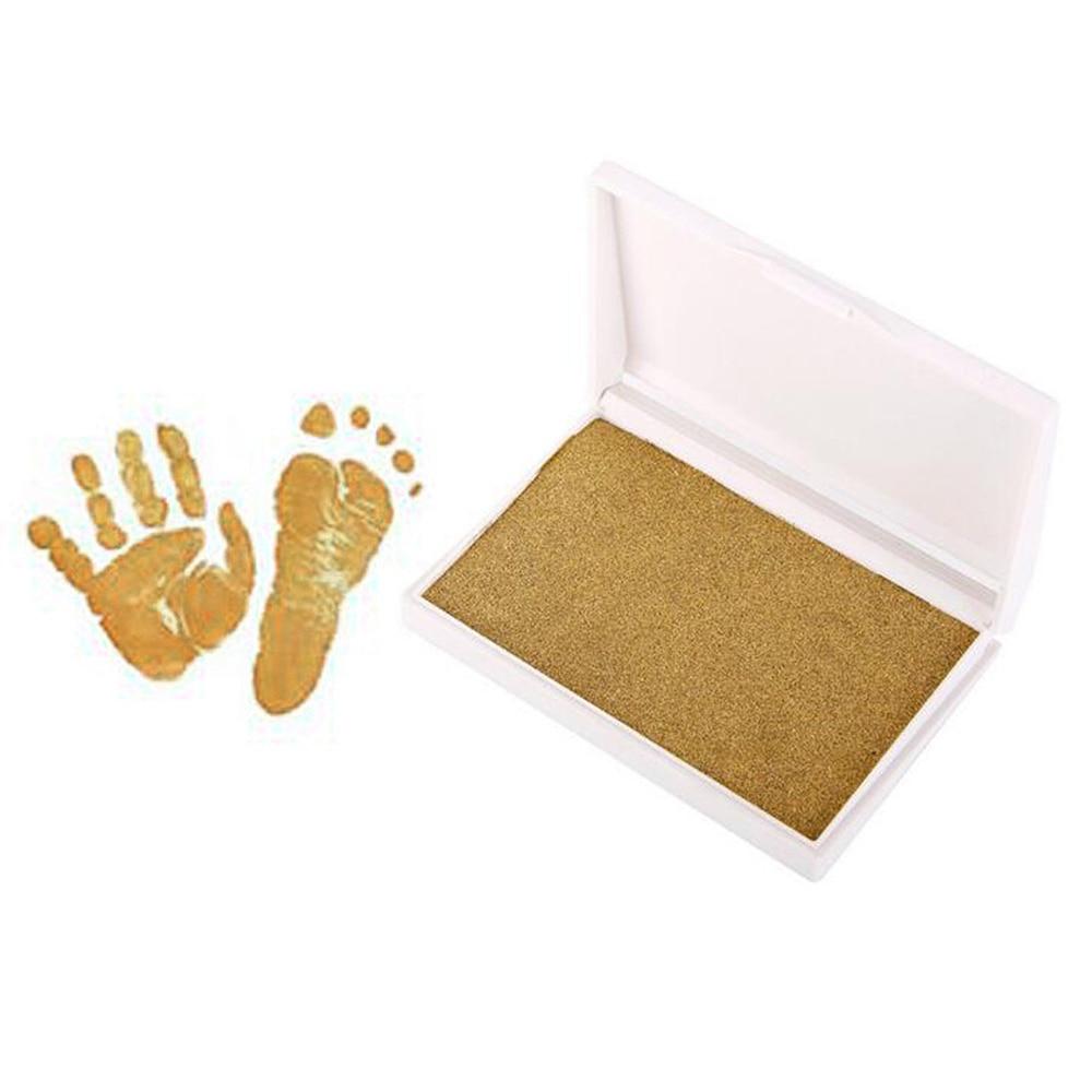 Newborn Baby Handprint Footprint Imprint Kit Inkpad Non Toxic Souvenirs Casting Ink Pad Infant Clay Toys Cute Gifts