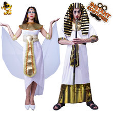 Qlq Египетский Костюм фараона для женщин и мужчин косплей одежда