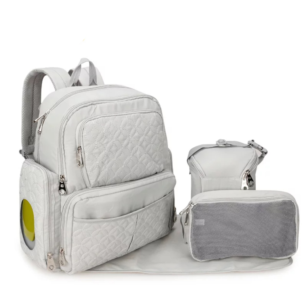 Baby Backpack Diaper Bags Stroller Bag  Travel Polyester  Solid  Nappy Bolsa De Maternidade Bebe Tote Nylon Five-piece Suit