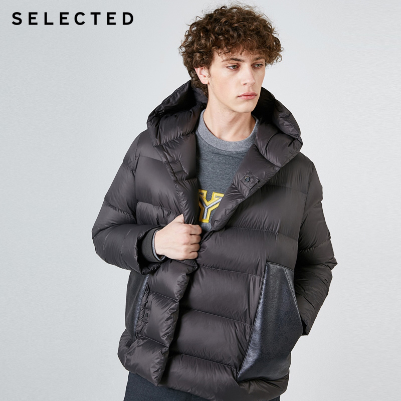 SELECTED Winter Down Jacket New Men's Parka Coat Duck Down Warm Hooded Short Clothes S | 419112514