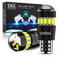 DXZ 2 шт. W5W T10 светодиодный лампы объектив 18SMD 12V WY5W Canbus для очистки автомобиля укрыты внутренной сводной парковки сигнальный светильник для BMW ...