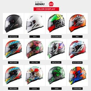 Image 2 - NENKI אופנוע מלא פנים קסדת Moto רכיבה ABS חומר מוטוקרוס קסדת אופנוע ECE הסמכה Casco Moto #