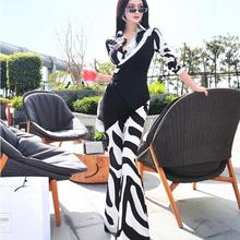 Clothing Jumpsuit Spring Female Casual Fashion Women Ladies Brand Zebra-Pattern Girls