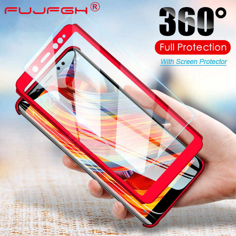 360 Shockproot Casos Cobertura Completa para Xiao mi mi Vermelho Nota 7 6 5 K20 Pró Nota 4X S2 4 5 6 UM 4X para mi 9 8 SE Lite F1 5X 6X Max2 Max3