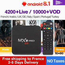SUBTV IPTV France Arabic Italy 1 Year Code MX9Pro Android 8.1 1G+8G Italian French