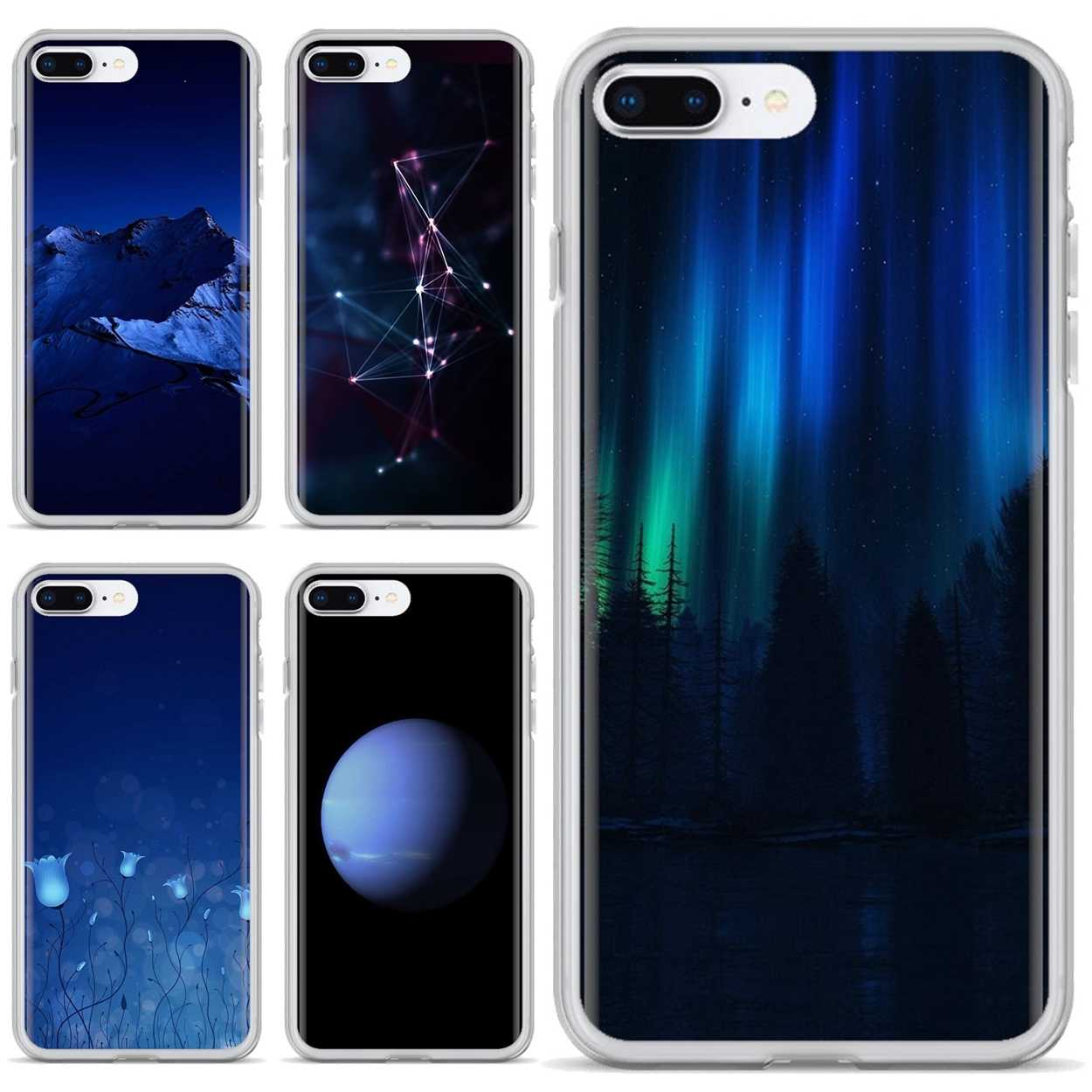 For Samsung Galaxy A3 A5 A7 A9 A8 Star Lite A6 Plus 2018 2015 2016 2017 Soft Skin Cover Dark Blue Wallpapers Fitted Cases Aliexpress