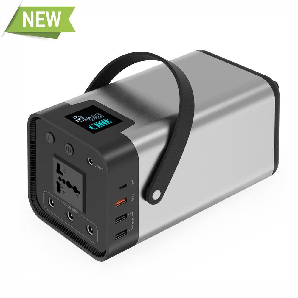 Banco de energía 54000mAh batería externa AC/DC/USB/tipo-c generador portátil de salida múltiple para ventilador de TV, refrigerador de coche, portátil, etc.