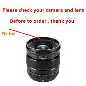 Image 2 - Bajonett Gewidmet Metall Objektiv Haube für Fuji Fujifilm Fujinon Objektiv XF 16mm F 1,4 R WR ersetzt LH XF16 Objektiv haube