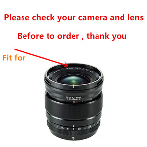 Image 2 - Süngü adanmış Metal Lens Hood Fuji Fujifilm Fujinon Lens XF 16mm F1.4 R WR değiştirir LH XF16 Lens Hood