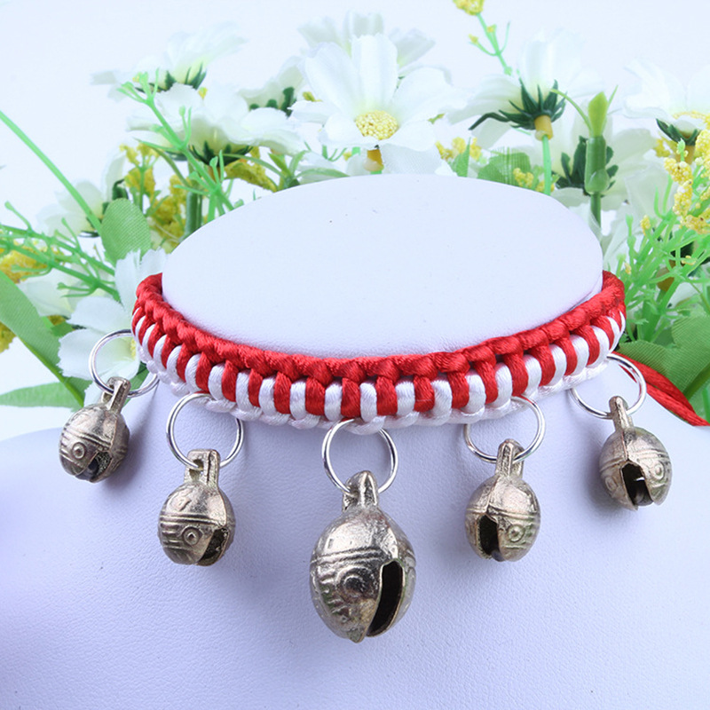 New Products Dog Copper Bell Neck Ring Cat Teddy Small Dogs Cute Accessories Golden Retriever Large Dog Bell Necklace