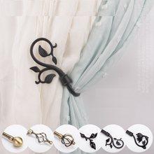 2pcs/set Curtain Tieback Holder Hooks Tie Backs Bedroom Living Room Curtain Decoration Accessories Holdback Wall Curtain Hooks