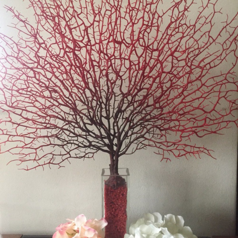 Simulation Coral Branch Plant Plastic Peacock Tree Sea Tree Dried Branch Artificial Decorations