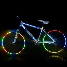 Светоотражающие наклейки для велосипедов MTB велосипед мотоцикл флуоресцентная наклейка Предупреждение безопасности Велоспорт лента ENA88