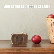 INWA Retro Mini Wireless Portable Bluetooth Speaker Plastic Wooden Grain Music Surround Sound System Upgrade Support USB AUX