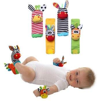 Juguetes Para Bebes De 20 Meses.Sonaja De Muneca Para Bebe Calcetines Bandas De Campana