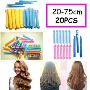 20pcs Magic Curlers Formers Leverage Spiral Hairdressing Tool Hair Rollers DIY Curling Long Hair Curlers Rollers Styling