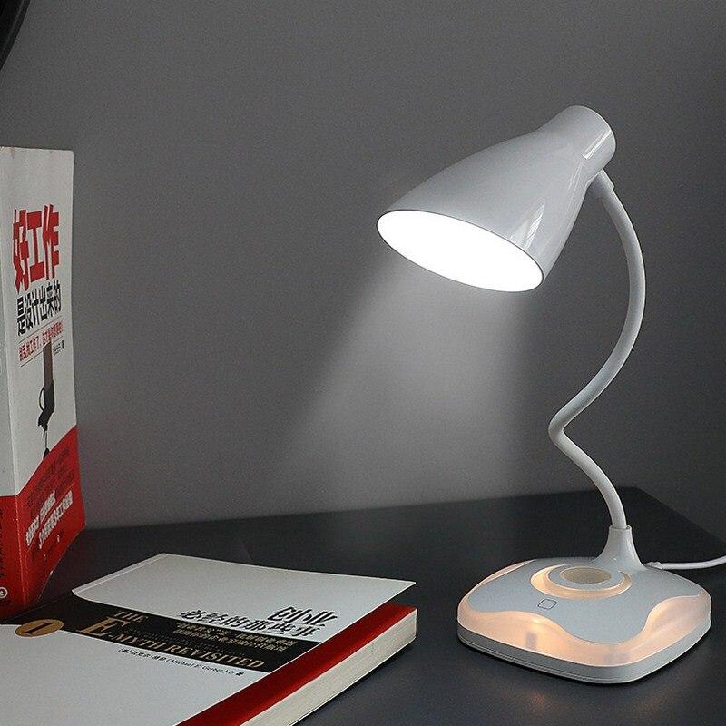 LED Four-leaf Clover Sensor Desk  Eye-Protection Lamp Flexible USB Rechargeable 800mAh Night Lighting Table Lamp For Study