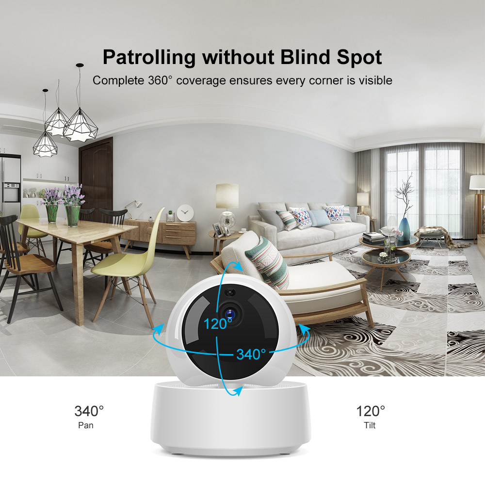 Sonoff GK-200MP2-B 1080P HD Wireless WiFi IP Security Camera Motion Detective 360° Viewing Activity Alert Ewelink APP Control