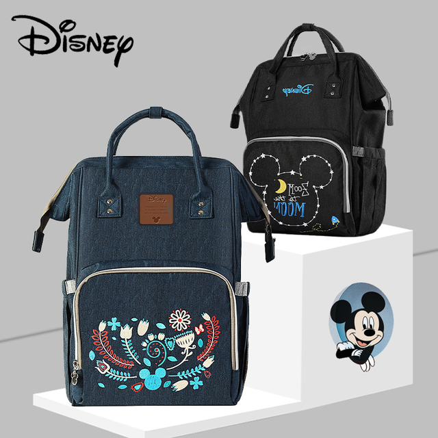 Disney Diaper Bags 2020 New Mummy Baby Bags With USB Bottle Insulation Nappy Bag Minnie Mickey Handbag Backpack For Baby Care Bags Kids