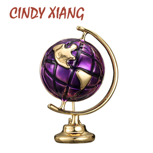 CINDY XIANG 3 Colors Available Enamel Earth Globe Brooches Women And Men Pin Kids Jewelry Fashion Creative Desgin High Quality
