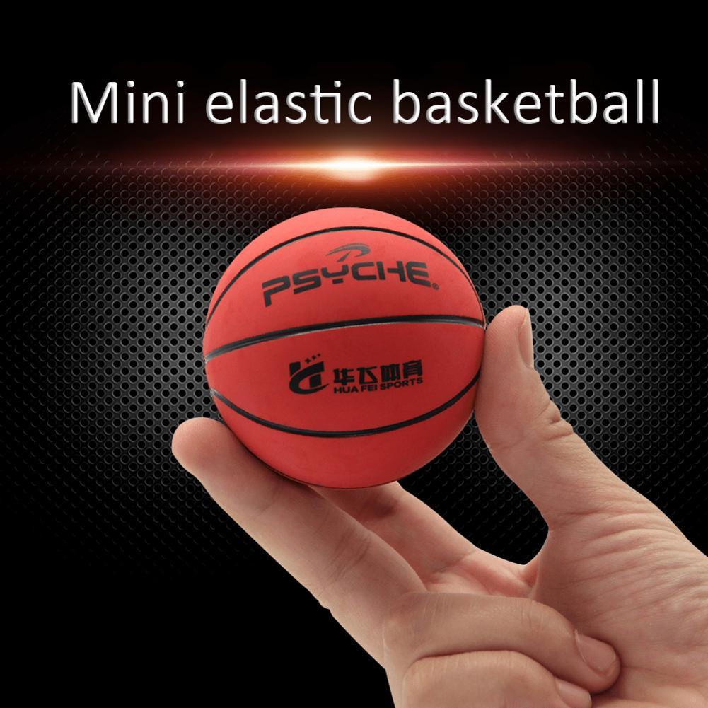 Basketball Training Mini 2.4-Inch Mini Rubber Basketball Elastic Desktop Decoration For Decompression Sensitively Training