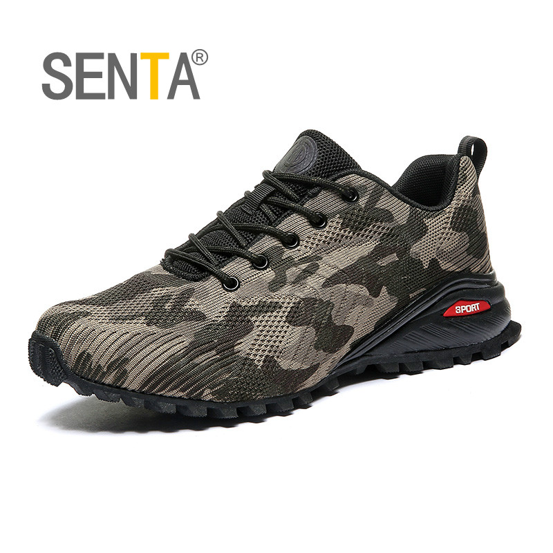 SENTA Big Size 39-50 Breathable Running Shoes For Men Camouflage Sneakers Man Non-slip Wear Sport Shoes Outdoor Jogging Athletic