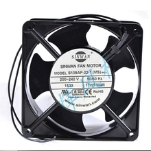 SINWAN S109AP-22-1 AC 240V 17W 120x120x38mm Server Cooling Fan free shipping for adda aa1282ub at ac 220 240v 0 17 0 13a 50 50hz 2 piece 120x120x38mm server square cooling fan free shipping
