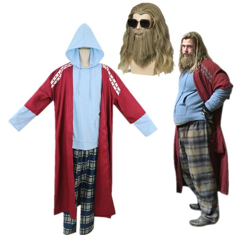 Thor Odinson Cosplay Costume Avengers: Endgame Fat Thor Costume Full Set Unisex Adult Halloween Christmas Costume