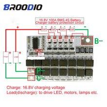 BMS 4S 16,8 V 100A 18650 Li-Ion Li-POLYMER Lithium-POLYMER LiMnO Batterie Schutz Bord 4S BMS lade Schaltung Mit Ausgewogene