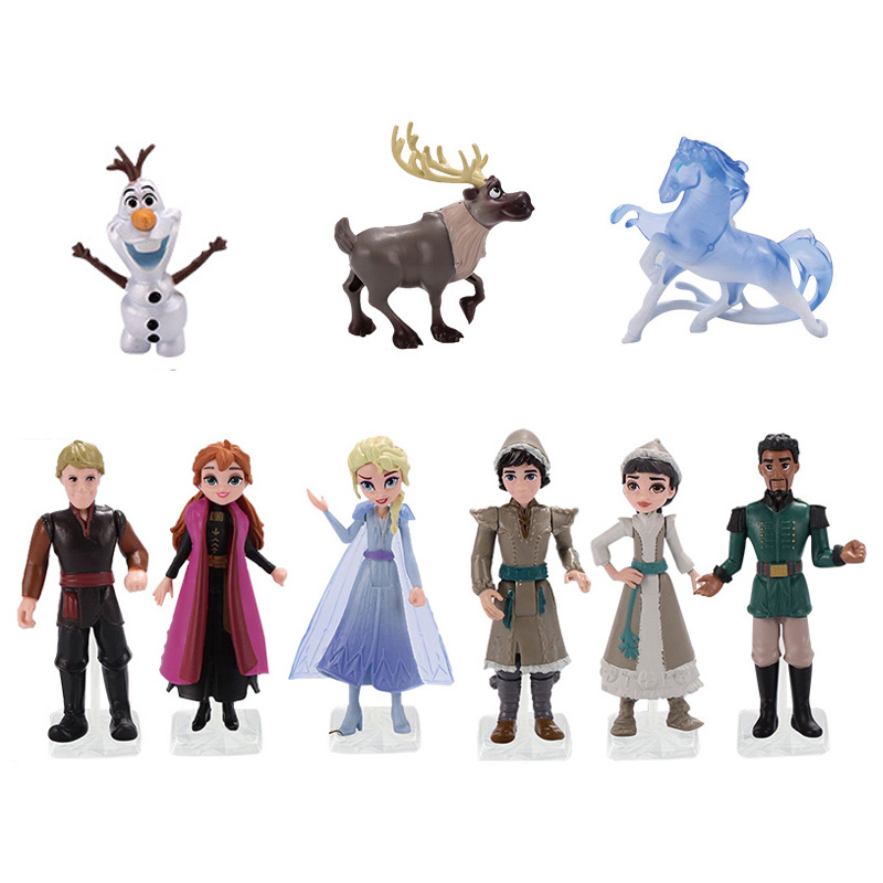 Disney <font><b>Frozen</b></font> <font><b>2</b></font> Snow Queen Elsa Anna PVC Action <font><b>Figures</b></font> Olaf Kristoff Sven Anime Dolls Figurines Kids Toys For Children Gifts image