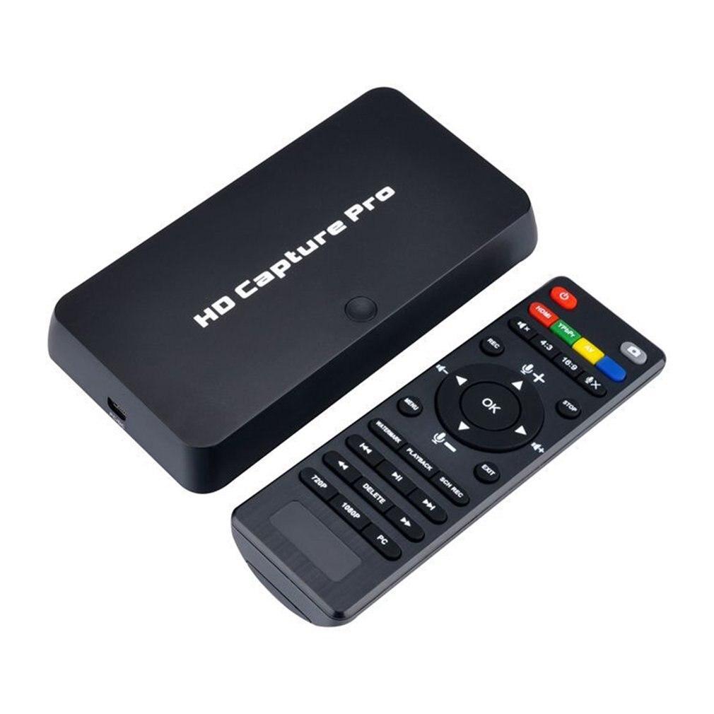 HD 1080P Capture de jeu vidéo Capture HDMI enregistreur vidéo télécommande enregistrement chronométré pour PS4 Xbox Support micro Plug and Play