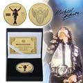 Michael Jackson Gold Überzogene Gedenkmünze Vereinigten Staaten Pop Sänger Gold Münzen Musik Sammeln Artikel Souvernir Geschenk