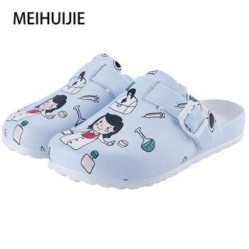 Medical shoes women nurse slippers EVA laboratory doctor clogs Non-slip Nurse Clogs Surgical Shoes dentist Work slippers